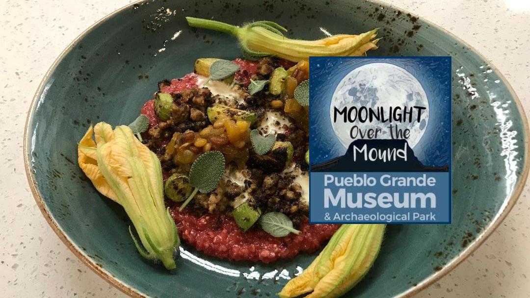 Moonlight over the mound Pueblo grande museum